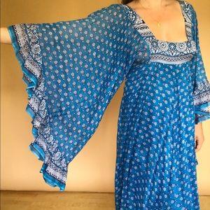 Indian gauze angel wing maxi dress